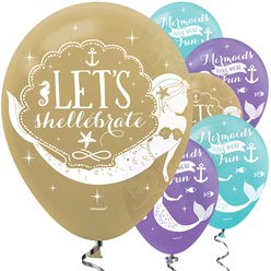 "Mermaid Wishes Balloons - 12"" Latex"