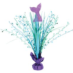 Mermaid Wishes Foil Spray Table Centrepiece - 46cm