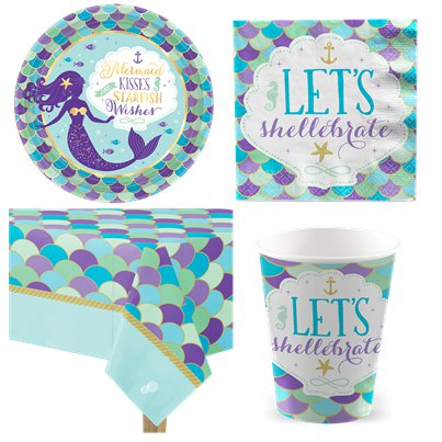 Mermaid Wishes Party Pack - Value Pack For 8