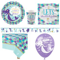 Mermaid Wishes Party Pack - Deluxe Party Pack For 8