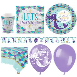 Mermaid Wishes Party Pack - Deluxe Pack For 16