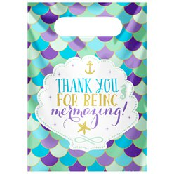 Mermaid Wishes Party Bags - Plastic Loot Bags