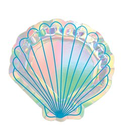 Mermaid Wishes Iridescent Shall Shaped Plates - 18cm