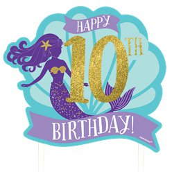 Mermaid Wishes Customisable Cake Decoration - 26cm
