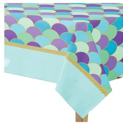 Mermaid Wishes Paper Tablecover - 1.37m x 2.6m