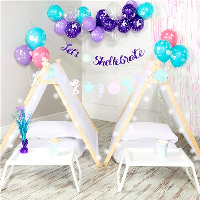 Mermaid Party Sleepover Tent Kit