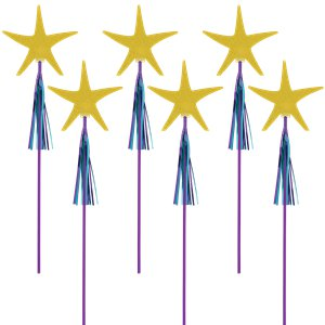 Mermaid Wishes Glitter Starfish Wands - 45cm