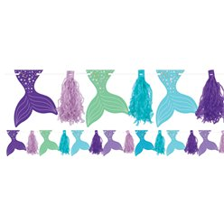 Mermaid Wishes Glitter Tassel Garland - 3m