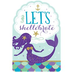 Mermaid Wishes Party Invitations
