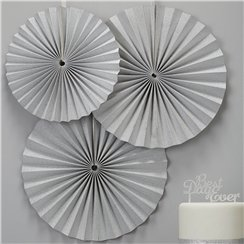 Metallic Perfection Paper Fan Decorations - 36cm