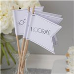 Metallic Perfection Wedding Flags - 30cm