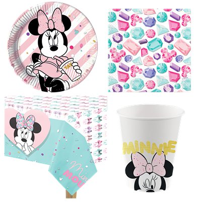 Disney Minnie Gem Party Pack - Value Pack For 8
