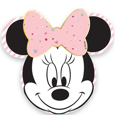 Disney Minnie Party Gem Face Shaped Paper Plates - 31.5cm