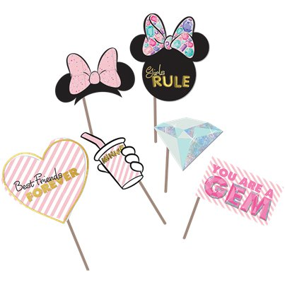 Disney Minnie Party Gem Photo Props