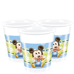 Baby Mickey Plastic Party Cups - 200ml