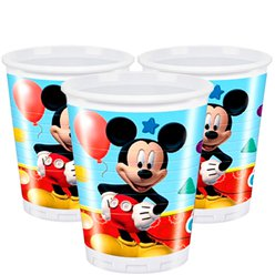 Mickey Mouse Cups - 200ml Plastic Party Cups