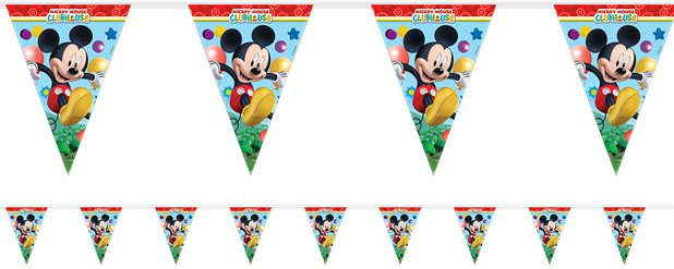 Mickey Mouse Plastic Bunting - 2m
