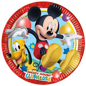 Mickey Mouse Plates - Paper Party Plates