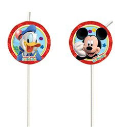 Mickey Mouse Plastic Drinking Straws