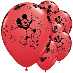 "Mickey Mouse Red Balloons - 11"" Latex"