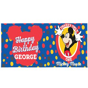 Micky Mouse Giant Personalised Banner