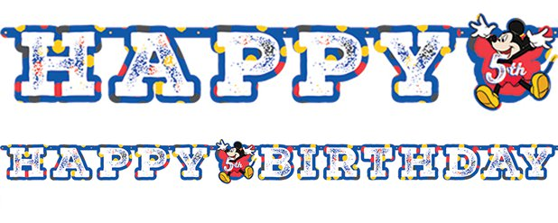 Mickey Mouse Add an Age Letter Banner