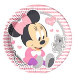 Baby Minnie Plates - 23cm Paper Party Plates