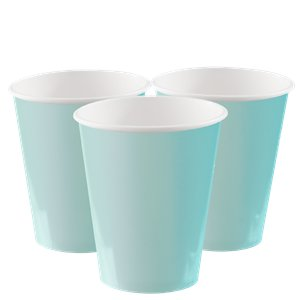 Mint Green Cups - 270ml Paper Party Cups