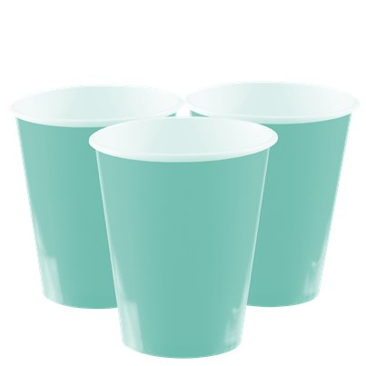 Mint Green Cups - 266ml Paper Party Cups