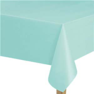 Mint Green Plastic Tablecover - 1.37m x 2.74cm