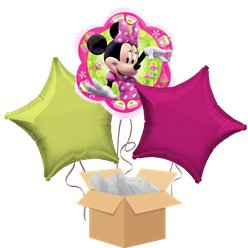 Minnie Mouse Balloon Bouquet - Delivered Inflated