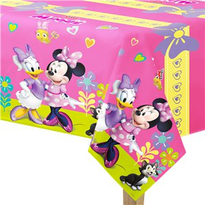 Minnie Mouse Plastic Tablecover - 1.2m x 1.8m