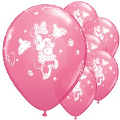 "Minnie Mouse Pink Balloons - 11"" Latex"