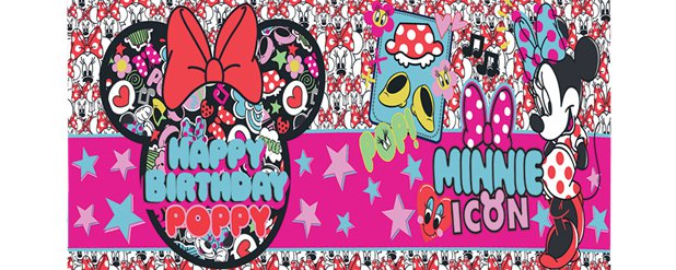 Minnie Mouse Giant Personalised Banner - 1.2m