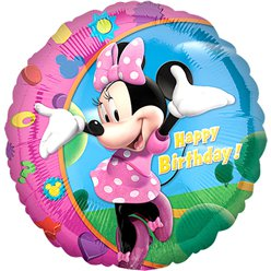 "Minnie Mouse Round Balloon - 18"" Foil"
