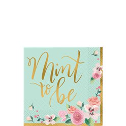 Mint To Be Paper Beverage Napkins - 25cm