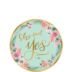 Mint To Be Dessert Plates - 18cm Paper Party Plates
