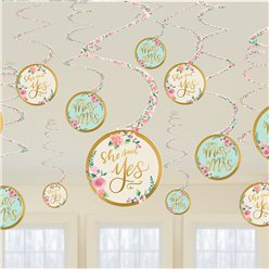 Mint To Be Hanging Decorations - Hanging Swirls