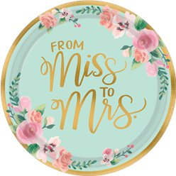 Mint To Be Plates - 26cm Paper Party Plates
