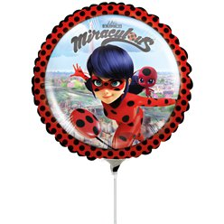 "Miracuous Ladybug Mini Balloon - 9"" Airfilled Foil"