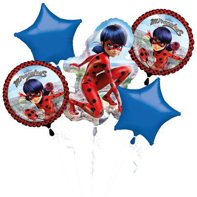 Miraculous Ladybug Balloon Bouquet - Assorted Foil