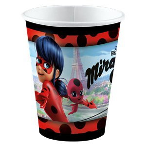Miraculous Ladybug Paper Cups - 250ml