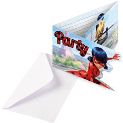 Miraculous Ladybug Party Invitation Cards