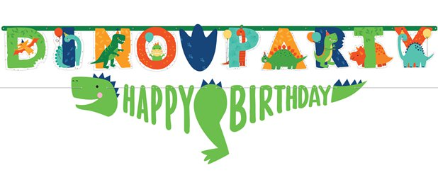 Dino-Mite Add an Age Letter Banner Kit