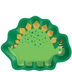 Dino-Mite Shaped Paper Plates - 23cm