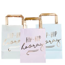 Pick & Mix Pastel 'Hip Hip Hooray' Pastel Party Bags - 26cm