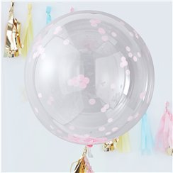 "Pick & Mix Pastel Pink Confetti Giant Balloon - 36"" Orb"