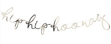 Pick & Mix Pastel Gold 'Hip Hip Hooray' Banner - 1.5m