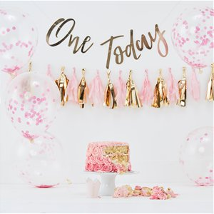 Pick & Mix Pastel Pink 1st Birthday Cake Smash Kit