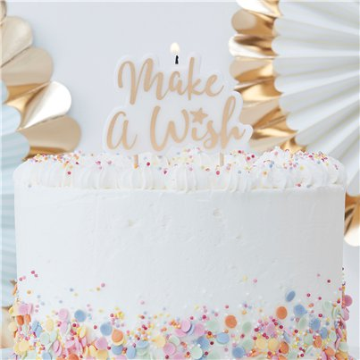 Pick & Mix Pastel Make a Wish Candle - 11cm